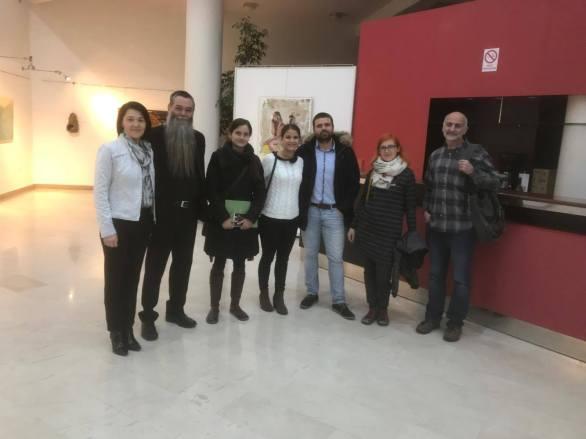 Odprtje razstave Pogled od zgoraj 2017, Kosovelov dom Sežana, torek, 12. december 2017. Foto: Beti Andlovic.
